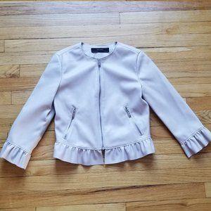 Zara Basic Leather blazer Size S